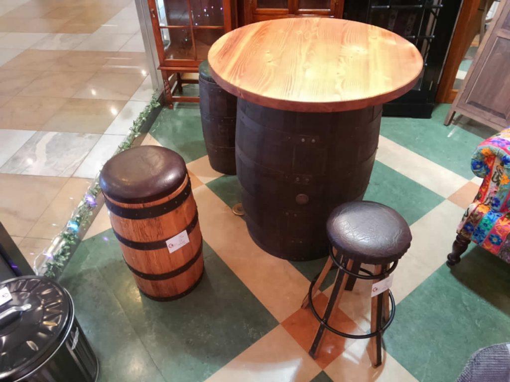 【漢の部屋】バレルテーブル&スツール【Get神戸】
