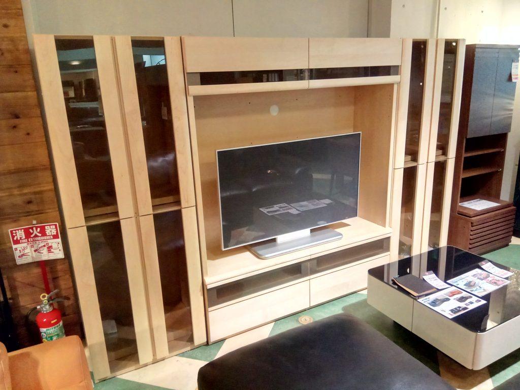 【Get神戸】サイドキャビネット付TVボードセット、モデルチェンジ品です。